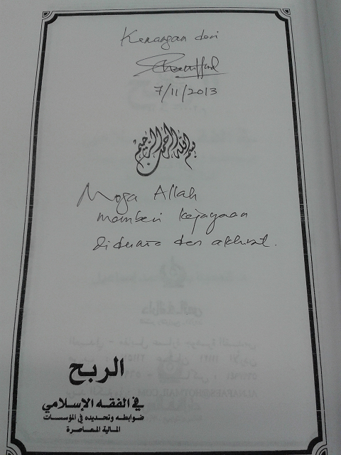 Terima Kasih Dr. Shamsiah Mohamad