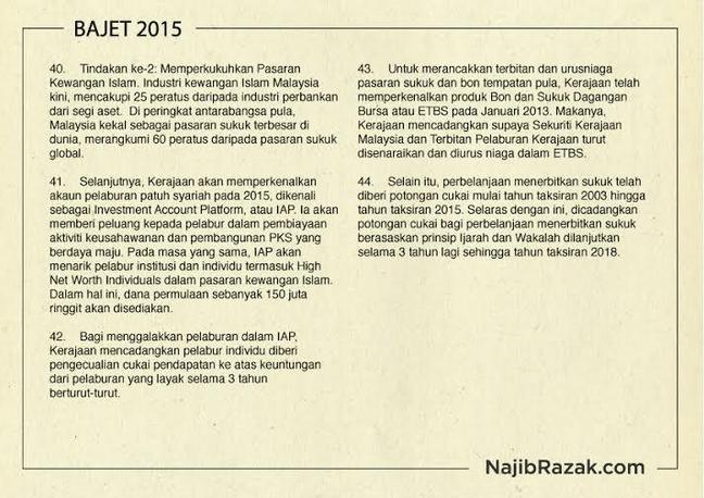 Kewangan Islam Bajet 2015